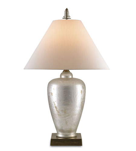 Currey & Company Beachwood 1 Light Table Lamp in Mercury Silver 6814 photo