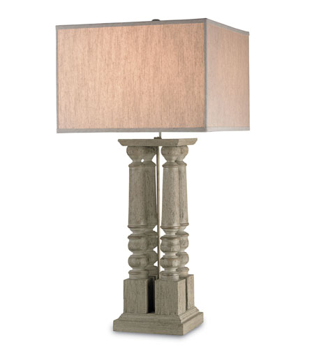 Currey & Company Stairway 1 Light Table Lamp in Rough Stone Gray 6829 photo