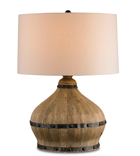 Currey & Company Farmhouse 1 Light Table Lamp in Natural 6845 photo