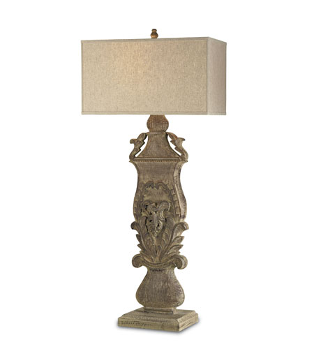 Currey & Company Villars 1 Light Console Lamp in Antique Wash 6846 photo