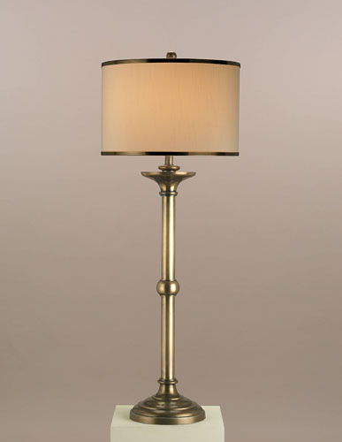 Currey & Company Longevity 1 Light Table Lamp in Antique Brass 6874 photo