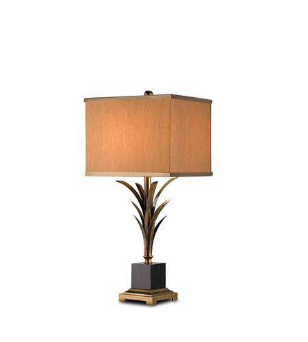 Currey & Company Killarny 1 Light Table Lamp in Antique Brass/Black 6901 photo