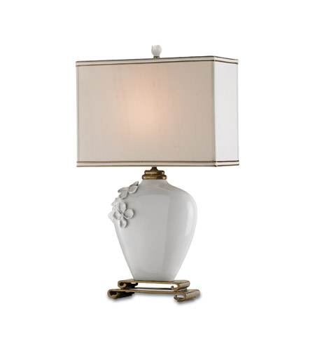 Currey & Company 6995 Minuet 29 inch 75 watt White Table Lamp Portable Light photo