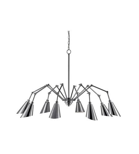Currey & Company 9000-0002 Garamond 8 Light 71 inch Chrome Chandelier  Ceiling Light