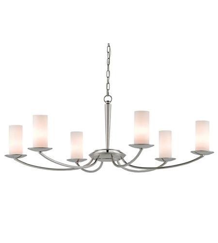 Currey & Company Wrought Iron Glass Chandeliers