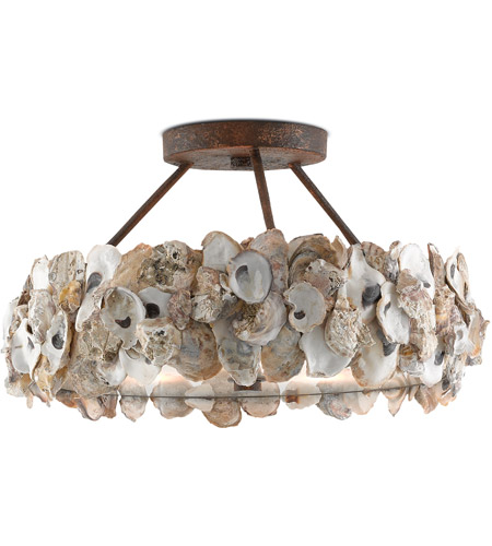 Currey company 9000 0265 oyster 3 light 19 inch textured bronze currey company 9000 0265 oyster 3 light 19 inch textured bronze and natural semi aloadofball Choice Image