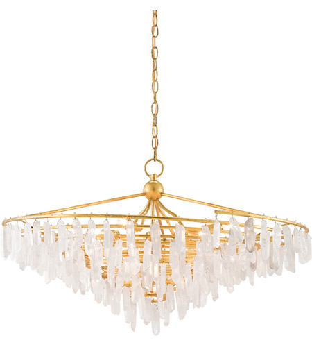 Currey Company 9000 0286 Tempest 4 Light 37 Inch Rhine Gold And Natural Chandelier Ceiling