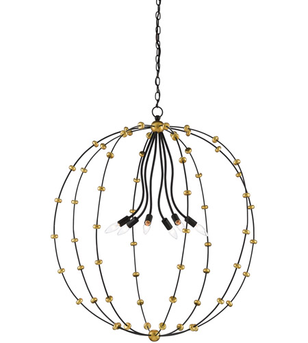 Antique Gold Leaf Wrought Iron Chandeliers