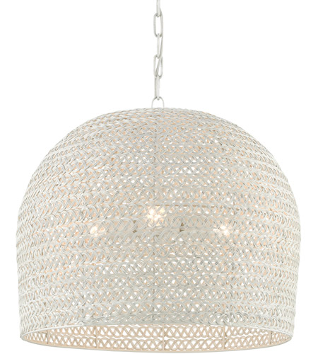 Currey Company 9000 0623 Piero 3 Light 22 Inch White Chandelier Ceiling Light