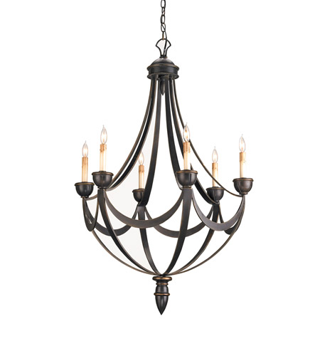 Currey & Company 9042 Palomino 6 Light 28 inch Bronze Gold Chandelier Ceiling Light photo