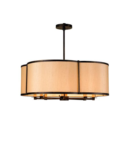 Currey & Company 9050 Linley 8 Light 30 inch French Black Pendant Ceiling Light photo
