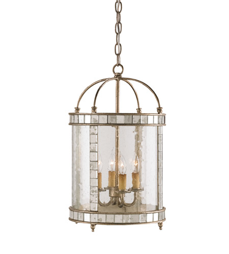 Currey & Company Corsica 4 Light Lantern in Harlow Silver Leaf 9229 photo