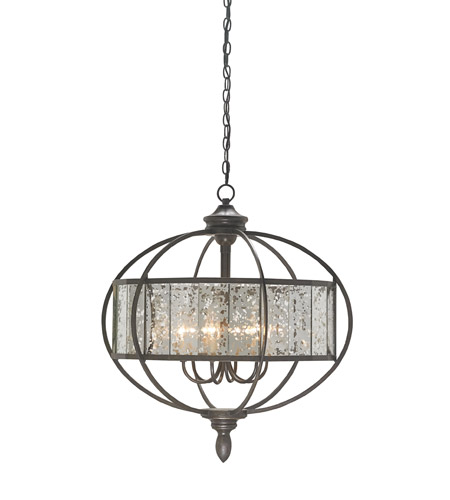 currey company florence 6 light chandelier in bronze