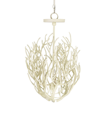 Currey And Company Coral Chandelier: Currey & Company Eventide 3 Light Chandelier In White