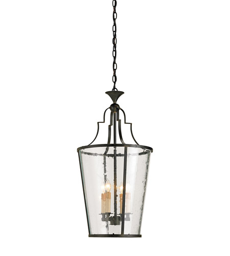 Currey & Company 9468 Fergus 4 Light 15 inch Old Iron Lantern Ceiling Light photo