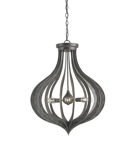 Currey Company Exton 8 Light Chandelier In Black Iron 9479