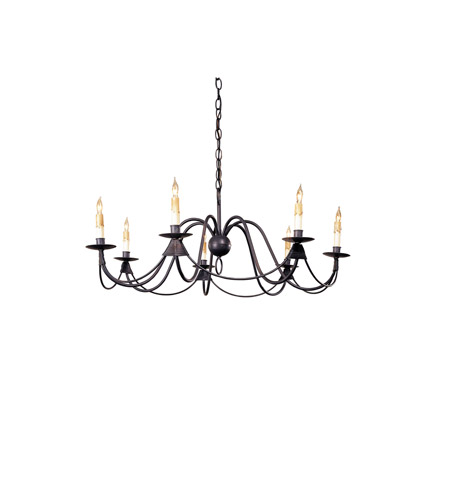 Currey & Company French Nouveau 7 Light Chandelier in Antique Bronze 9500 photo