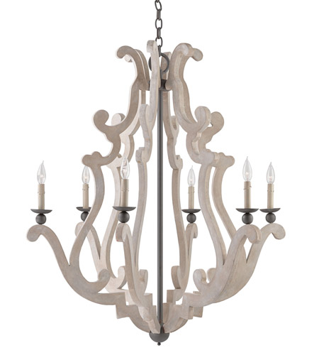 Currey & Company Natural Wrought Iron Chandeliers