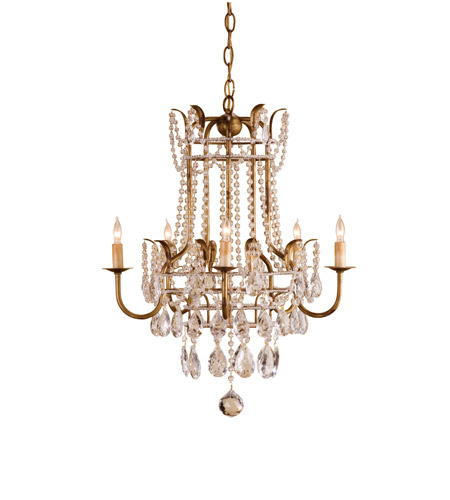 Currey & Company Laureate 5 Light Chandelier in Rhine Gold 9643 photo