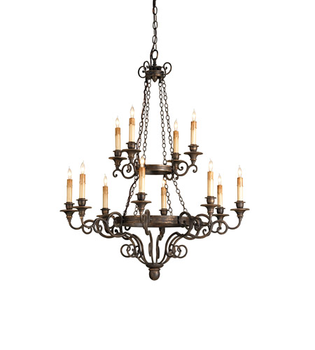 Currey & Company 9682 Galleon 12 Light 33 inch Hand Rubbed Bronze Chandelier Ceiling Light photo