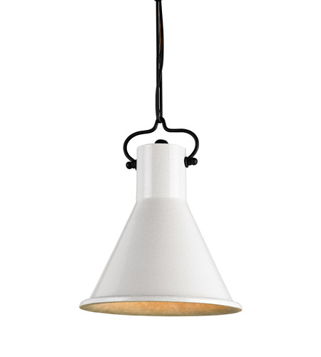 Currey & Company Rooke 1 Light Pendant in Satin Black/Ivory 9787 photo