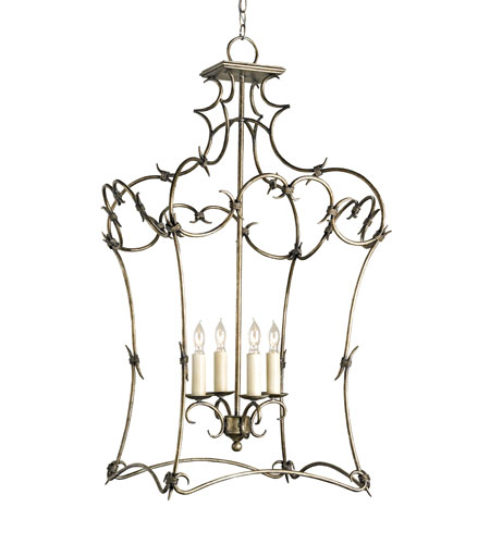 Currey & Company Barbary 4 Light Lantern in Pyrite Bronze 9821 photo