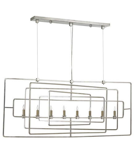 Currey & Company Contemporary Silver Leaf Chandeliers