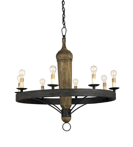 Currey & Company Hogarth 8 Light Chandelier in Mole Black 9860 photo
