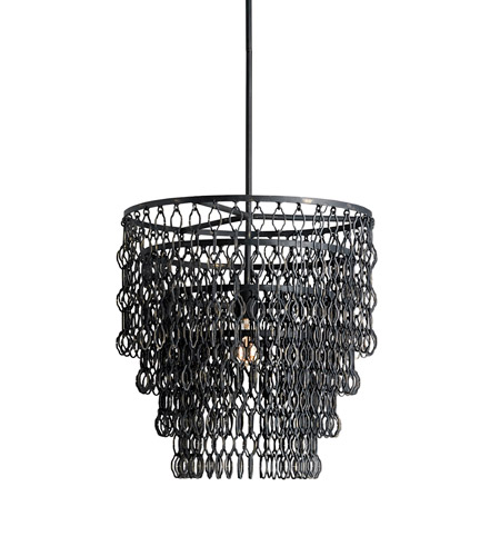 Currey & Company 9863 Fenwick 1 Light 21 inch French Black Pendant Ceiling Light photo