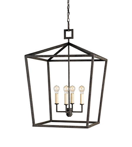 Currey & Company Denison 4 Light Lantern in Mole Black 9872 photo