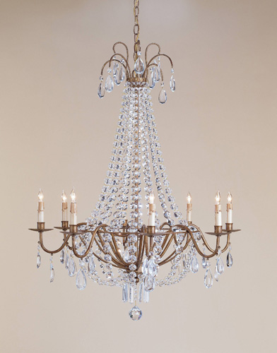 Currey & Company Versailles 8 Light Chandelier in Rhine Gold 9876 photo