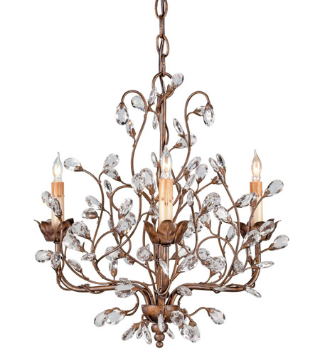 Currey & Company Cupertino Wrought Iron Chandeliers