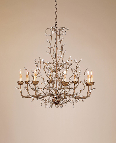 Currey & Company Crystal Bud 8 Light Chandelier in Cupertino 9884 photo