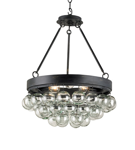 Currey & Company 9887 Balthazar 3 Light 18 inch French Black Pendant Ceiling Light photo