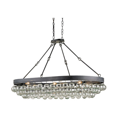 Currey & Company Balthazar 6 Light Pendant in French Black 9888 photo