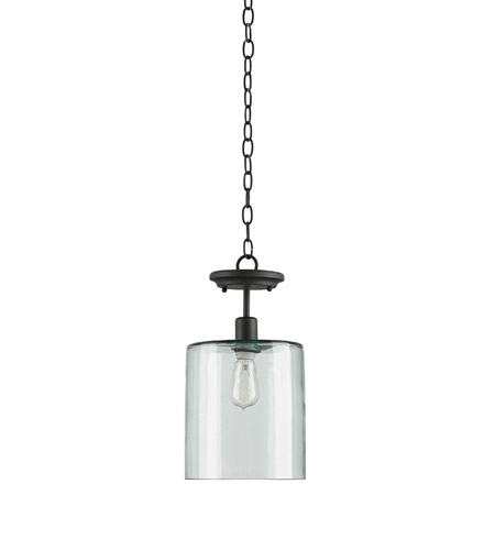 Currey & Company 9892 Panorama 1 Light 9 inch Old Iron Pendant Ceiling Light photo