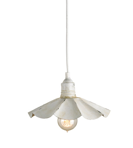 Currey & Company 9895 Dalliance 1 Light 10 inch Aged Cream/Weathered Antique Silver Pendant Ceiling Light photo