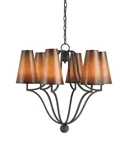 Currey & Company Litchfield 6 Light Chandelier in Mole 9909 photo