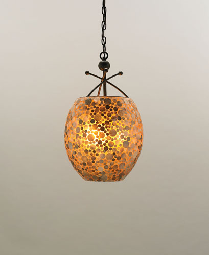 Currey & Company Lucy 3 Light Pendant in Cupertino/ Amber 9936 photo