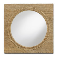 Tisbury 20 X 20 inch Natural Mirror Home Decor
