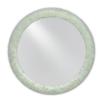 Arista 22 X 22 inch Harlow Silver Leaf/Seaglass Mirror Home Decor