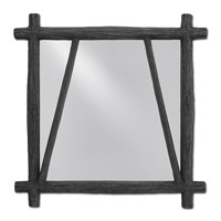 Arboria 27 X 27 inch Distressed Black Mirror Home Decor