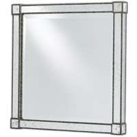 Monarch 22 X 22 inch Painted Silver Viejo/Light Antique Mirror Mirror Home Decor, Square