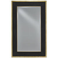 Loren 58 X 36 inch Polished Brass/Caviar Black Mirror Home Decor, Large
