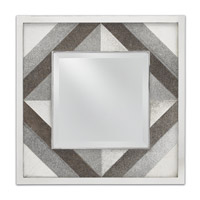 Cordova 24 X 24 inch Polished Nickel/Gray Mirror Home Decor
