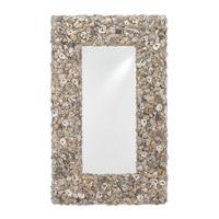 Ostra 61 X 38 inch Natural Oyster Shell Mirror Home Decor