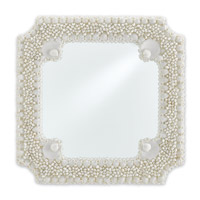 Theodora 23 X 23 inch Natural White Shells Wall Mirror