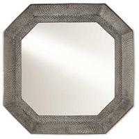 Robah 28 X 28 inch White Wash Graphite and Mirror Wall Mirror