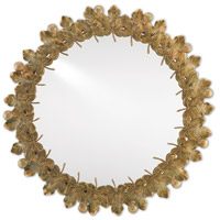 Figuier 30 X 30 inch Patina Brass and Mirror Wall Mirror, The Marjorie Skouras Collection