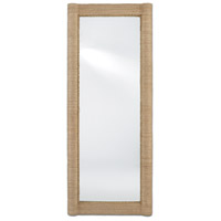 Currey & Company 1000-0043 Vilmar 74 X 30 inch Natural and Mirror Floor Mirror